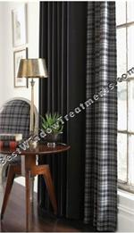 Gentlemen Solid Curtain Panel available in 4 colors
