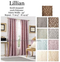 Lillian Curtains and extra long ready-made drapes