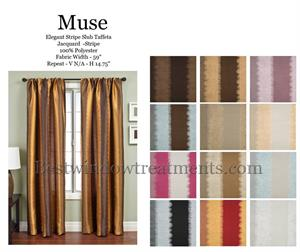 Muse Ikat Stripe Curtains in Bright and Pastel colors pastel blue