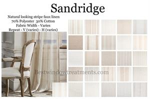Sandridge Linen Curtain drapery panels