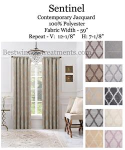 Sentinel Jacquard tile design curtains