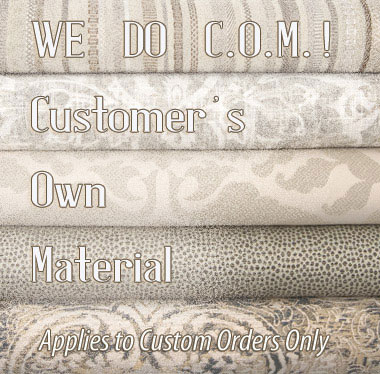 You Choose Fabric, and We'll custom make your window treatment!