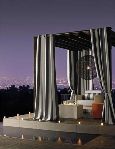 Outdoor Sunbrella Curtains and Fabric