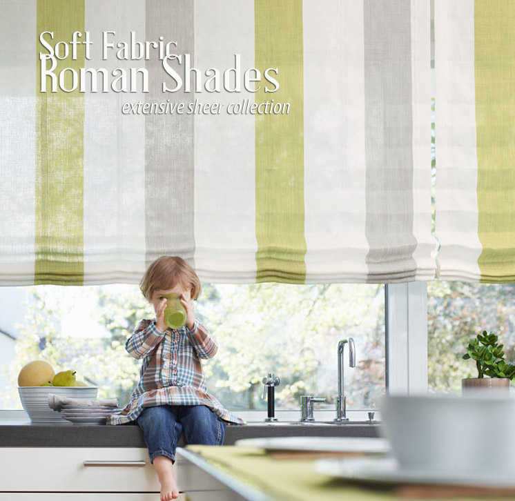 shop fabric roman shades with cordless option
