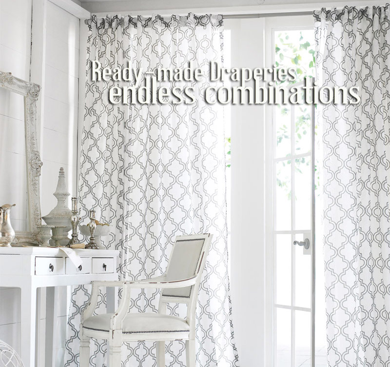 Shop Ready-made Curtain Panels with Semi-Custom Options!