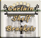 Curtain Shelf Brackets