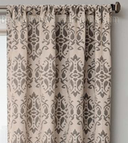 Azure Damask Curtain
