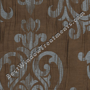 Castella curtain drapery panels - Brown and light blue curtains ...