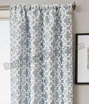 Palisade Tile Curtain Panel available in 7 colors