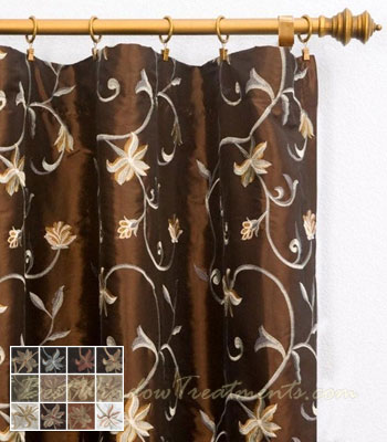 ... Rod Pocket Curtain Panel W/ring Clips