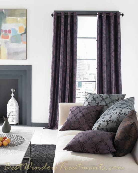 108 inch Ready-made Curtains: Optional Blackout Lining, Grommets and more : Shop Extra Long Drapes : Sewn in the USA!