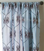 Pyn Scroll Curtain Panel available in 11 colors