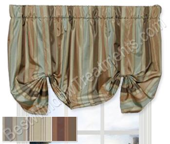 Classic Stripe Calloway Tie Up Valance-Lined