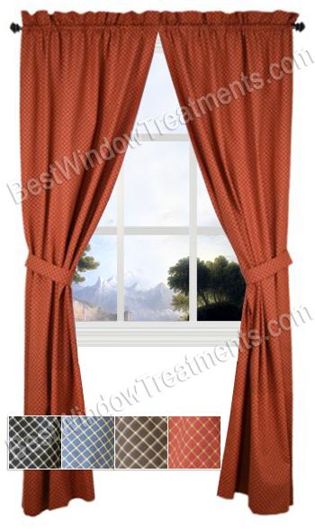 tyvek curtains pair - Rust Color Curtains