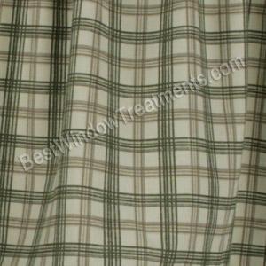 Bristol Plaid Tier Curtains (Custom Sizes Available!)