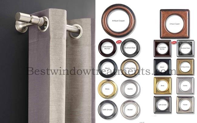 Custom Grommet Curtain Drapery Panel In Group 1 Fabrics