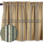 Brookville Ticking Tier Curtains