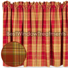 Cedar Park Plaid Tier Curtains
