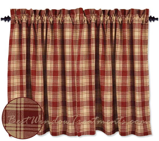 Millbrook Check Navy Tier Curtains