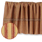 York Ticking Barn Red Prairie Valance