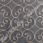 Caspia Pewter Fabric Swatch Sample
