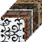 Delano Flocked Scroll Curtain samples