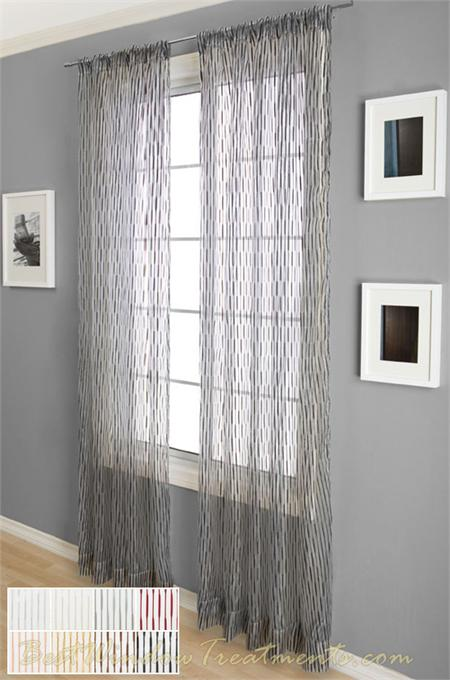 glamour sheer curtain panel available in 8 colors