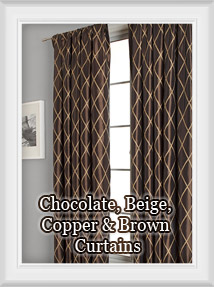 Shop for Chocolate, Beige, Taupe, Bronze, Brown Curtains & Drapes