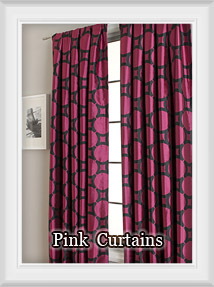 Shop for shades of pink, blush and fucshia curtains