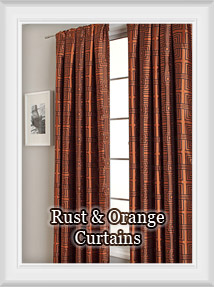 Rust, Pumpkin, Copper, Bronze, Sienna, Terracotta,  Bright & Burnt Orange Curtains