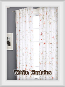 Shop for Curtains in Solid White and White with prints