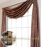 Reming Scarf Swag Window Topper available in 12 colors
