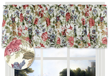 Fresh Country Rose Tailored Valance
