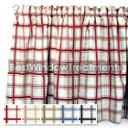 Logan's Run Large Plaid Tier Curtains