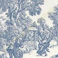 Victorian Toile in Blue