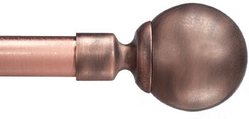 Novara Custom Metal Curtain Rod in Copper - Extra Long available