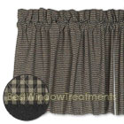 Brentwood Gingham Tier Curtains