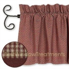 Brentwood Gingham Red Valance