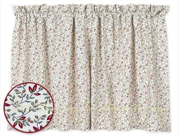 Cottage Vine Tier Curtains