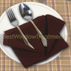 Solid Burgundy Napkins (Shown with Biltmore placemat)