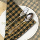 Gingham Napkins in Hunter Green