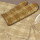 Wheat Plaid Oven Mitt