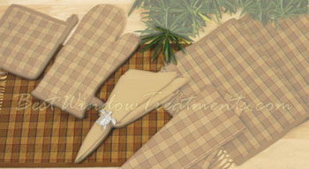 Straw Plaid Placemat
