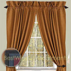Jamestown Check Curtain Panels available in Colonial Blue, and Burgundy