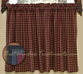 Williamsburg Plaid Tier Curtain