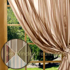 Veneto Lined Curtain Panel in Coral, Ivory, Sage and Sea Spray