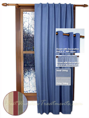 Homespun Double Lined Window Warmth Curtain Panels available in ...