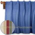 Homespun Double Lined Valance available in Cornflower Blue, Harvest, Linen, Spanish Moss and Sienna