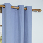 Homespun Grommet Curtain Panel available in Cornflower Blue, Harvest, Linen, Spanish Moss and Sienna
