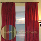Saddle-up Microsuede Curtains (pair) available in Loden